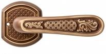 Ручка дверная на круглой розетке Val De Fiori Ризарди, Бронза шоколадная