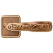 Ручка дверная на квадратной розетке Val De Fiori Николь, Латунь состаренная