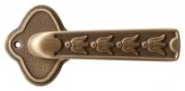 Ручка дверная на овальной розетке Val De Fiori Аморе, Латунь состаренная