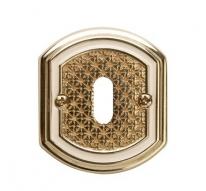 Накладка под сув. ключ к ручке Val De Fiori Ризарди, Латунь блестящая с эмалью