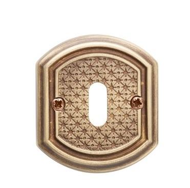 Накладка под сув. ключ к ручке Val De Fiori Ризарди, Латунь состаренная