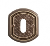 Накладка под сув. ключ к ручке Val De Fiori Ризарди, Бронза шоколадная