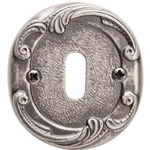 Накладка под сув. ключ к ручке Val De Fiori Николь, Серебро античное с эмалью
