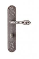 Ручка дверная на планке с фиксатором  Val De Fiori Беладжио, Серебро античное с эмалью