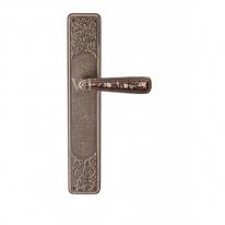Ручка дверная на планке проходная Val De Fiori Николь, Бронза античная с эмалью
