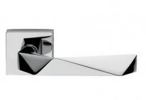 Ручка дверная на квадратной розетке Dnd Аллюр, Хром блестящий