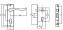 Комплект дверной Tixx: замок и защелкой, (ключ/ключ), Латунь матовая