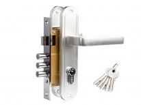 Комплект дверной Tixx 127, Хром матовый