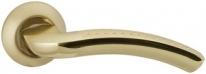 """Ручка дверная на круглой розетке Morelli """"Эпоха Возрождения"""", Золото матовое/Золото Mh-02P SG/GP"""
