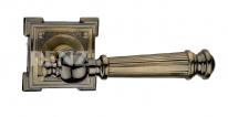"""Ручка дверная на квадратной розетке RENZ """"Валенсия"""", Бронза античная"""