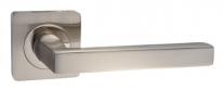 Ручка дверная на квадратной розетке Tixx Майори, Никель матовый