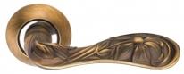 Ручка дверная на круглой розетке Archie S010 172Acf, Кофе античный