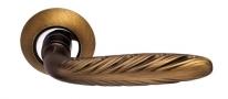 Ручка дверная на круглой розетке Archie S010 167Acf, Кофе античный