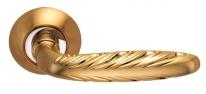 Ручка дверная на круглой розетке Archie S010 167Ii, Золото матовое