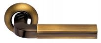 Ручка дверная на круглой розетке Archie S010 96Acf, Кофе античный