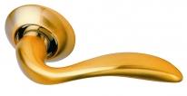 Ручка дверная на круглой розетке Archie S010 Rii, Золото матовое
