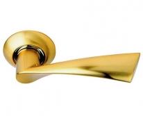 Ручка дверная на круглой розетке Archie S010 X11Ii, Золото матовое