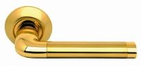 Ручка дверная на круглой розетке Archie S010 47Ii, Золото матовое