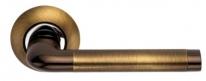 Ручка дверная на круглой розетке Archie S010 47Acf, Кофе античный
