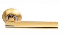 Ручка дверная на круглой розетке Archie S010 119Ii, Золото матовое