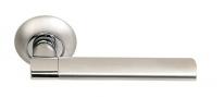 Ручка дверная на круглой розетке Archie S010 11999, Хром матовый