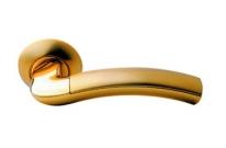 Ручка дверная на круглой розетке Archie S010 59Ii, Золото матовое