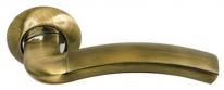 Ручка дверная на круглой розетке Archie S010 59Mb, Бронза античная