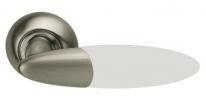 Ручка дверная на круглой розетке Archie S010 113Hwa, Никель белый