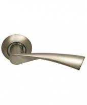 Ручка дверная на круглой розетке фалевая Archie Sillur X11, Хром матовый