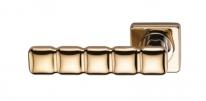 Ручка дверная на квадратной розетке фалевая Archie Sillur C202, Золото