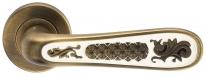 Ручка дверная на круглой розетке Archie Alivio, Кофе античный/Эмаль