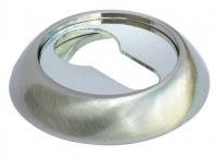 Накладка на цилиндр Morelli Mh-Kh SN/CP Белый никель/Полированный хром