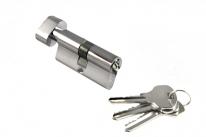 Ключевой цилиндр Morelli с поворотной ручкой 60Ck Pc,  Хром