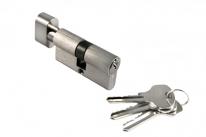 Ключевой цилиндр Morelli с поворотной ручкой 60Ck Sn, Никель
