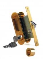 Ручка для раздвижной двери Archie, Бронза античная  (Защелка, Фиксатор, Ключ)