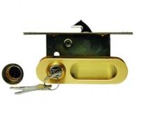 Ручка для раздвижной двери Archie, Золото матовое  (Защелка, Фиксатор, Ключ)