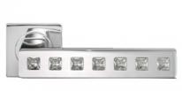 Ручка дверная на квадратной розетке Morelli Luxury, Cullinan Dc-1-S Cro, Хром