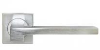 Ручка дверная на квадратной розеке Morelli Luxury, Nc-2-S Csa, Stone, Хром матовый