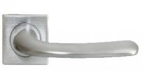 Ручка дверная на квадратной розетке Morelli Luxury, Sand Nc-7-S Csa, Хром матовый