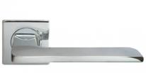 Ручка дверная на квадратной розетке Morelli Luxury, Rock Nc-8-S Cro, Хром