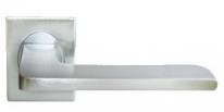 Ручка дверная на квадратной розетке Morelli Luxury, Rock Nc-8-S Csa, Хром матовый