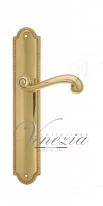 Ручка дверная на планке проходная Venezia Carnevale PL98 полированная латунь