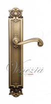 Ручка дверная на планке с фиксатором Venezia Carnevale WC-2 PL97 матовая бронза