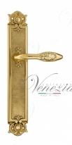 Ручка дверная на планке проходная Venezia Casanova PL97 полированная латунь