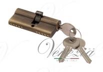 Цилиндровый механизм ключ-ключ Venezia 25/10/25 матовая бронза