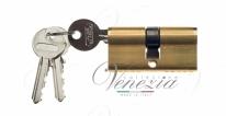Цилиндровый механизм ключ-ключ Venezia 25/10/25 полированная латунь