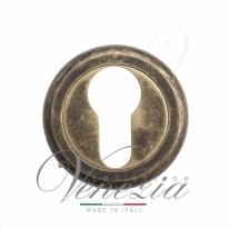 Накладка дверная под цилиндр Venezia CYL-1 D1 античная бронза