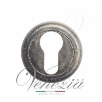 Накладка дверная под цилиндр Venezia CYL-1 D1 античное серебро