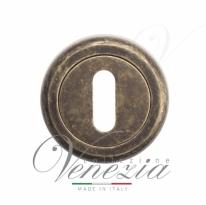 Накладка дверная под ключ буратино Venezia KEY-1 D1 античная бронза