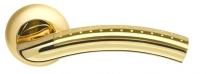 Ручка дверная на круглой розетке Armadillo Libra Ld26-1Sg/Gp-4 Золото матовый/Золото
